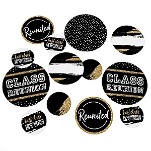 Reunited - School Class Reunion Party Giant Circle Confetti - Party Decorations - Large Confetti 27 Count