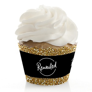 Reunited - School Class Reunion Party Decorations - Party Cupcake Wrappers - Set of 12