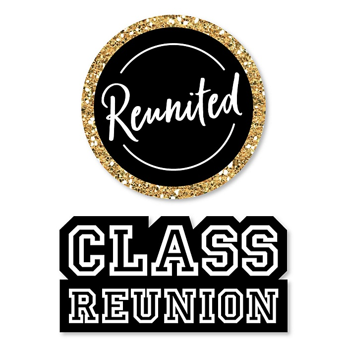 Reunited - DIY Shaped School Class Reunion Party Cut-Outs - 24 ct
