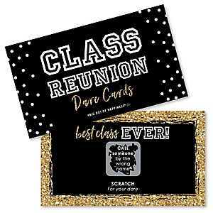 Reunited - School Class Reunion Party Game Scratch Off Dare Cards - 22 Count