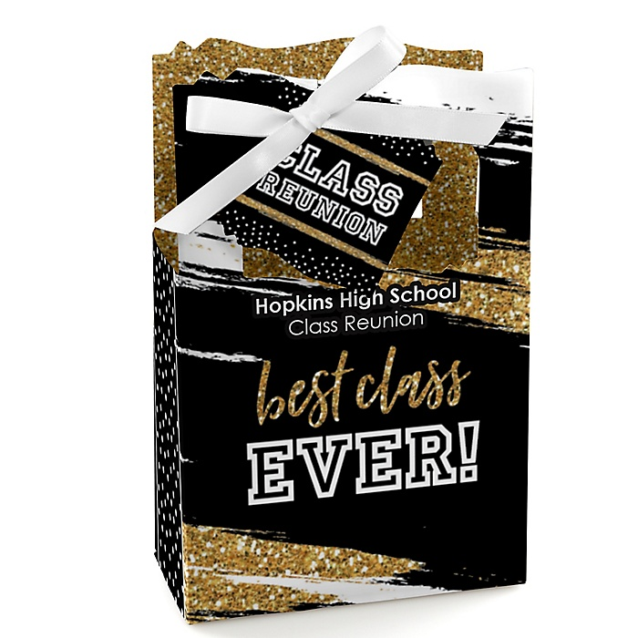 Reunited - Personalized School Class Reunion Party Favor Boxes - Set of 12