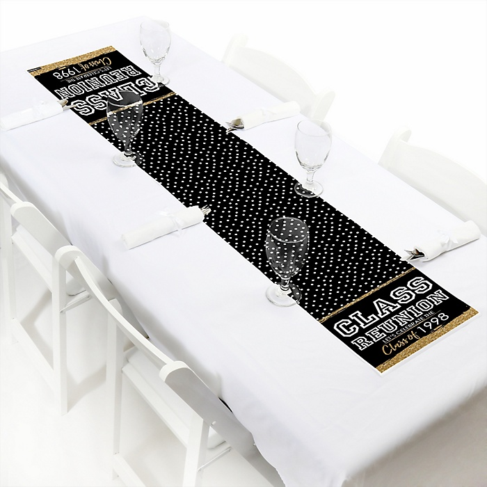 """Reunited - Personalized Petite School Class Reunion Party Paper Table Runner - 12"""" x 60"""""""