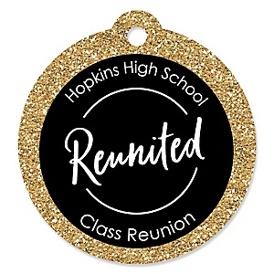 Reunited - Personalized School Class Reunion Party Favor Gift Tags - 20 ct