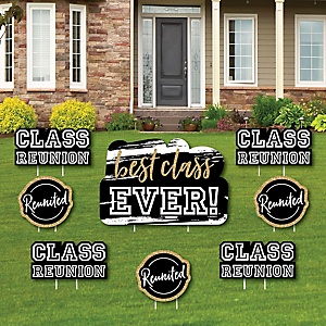 Reunited - Yard Sign & Outdoor Lawn Decorations - Yard Signs - Set of 8