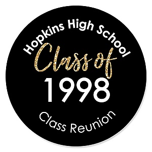 Reunited - Personalized School Class Reunion Party Sticker Labels - 24 ct