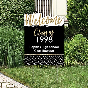 Reunited - Party Decorations - School Class Reunion Party Personalized Welcome Yard Sign