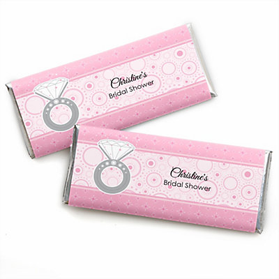 with this ring personalized bridal shower candy bar wrapper favors bigdotofhappinesscom