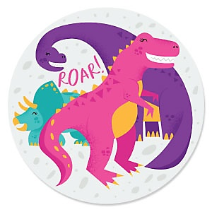 Roar Dinosaur Girl - Dino Mite - T-Rex Party Theme