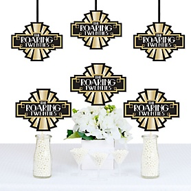 Roaring 20's - 1920s Art Deco Jazz Decorations DIY Twenties Party Essentials - 2020 Graduation Party - Set of 20