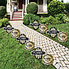 Roaring 20's - 1920s Art Deco Jazz Lawn Decorations - Outdoor Yard Art Decorations - 10 Piece