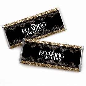 Roaring 20's -  Candy Bar Wrapper 1920s Art Deco Jazz Party Favors - 2020 Graduation Party - Set of 24