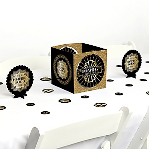 Roaring 20's - 1920s Art Deco Jazz Party Centerpiece and Table Decoration Kit