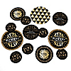 Roaring 20's - Personalized 1920s Art Deco Jazz Giant Circle Confetti - Twenties Party Decorations - Large Confetti 27 Count