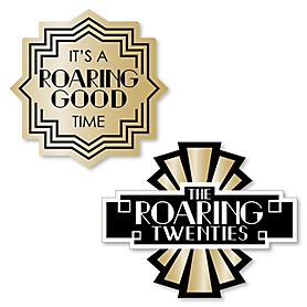 Roaring 20's - DIY Shaped 1920s Art Deco Jazz Party Cut-Outs - 2020 Graduation Party - 24 ct