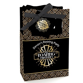 Roaring 20's - Personalized 1920s Art Deco Jazz Party Favor Boxes - 2020 Graduation Party - Set of 12