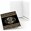 Roaring 20's - Set of 8 1920s Art Deco Jazz Party Thank You Cards