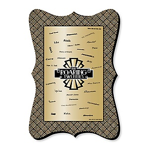 Roaring 20's - Unique Alternative Guest Book - 1920s Art Deco Party Signature Mat