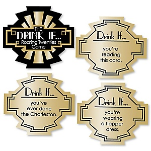 Roaring 20's - Drink If 1920s Art Deco Jazz Party Game - Set of 24