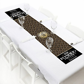 "Roaring 20's - Personalized Petite 1920s Art Deco Jazz Party Table Runner - 2020 Graduation Party - 12"" x 60"""
