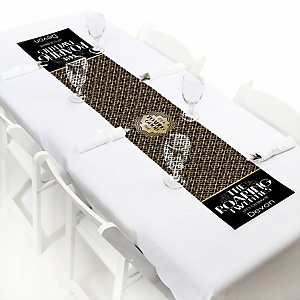 "Roaring 20's - Personalized Petite 1920s Art Deco Jazz Party Table Runner - 12"" x 60"""