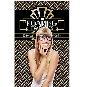 """Roaring 20s - 1920s Art Deco Jazz Party Photo Booth Backdrops - 36"""" x 60"""""""