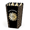 Roaring 20's - Personalized 1920s Art Deco Jazz Party Popcorn Favor Treat Boxes - Set of 12