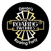 Roaring 20's - Round Personalized 1920s Art Deco Jazz Party Sticker Labels - 24 ct