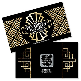 Roaring 20's - 1920s Art Deco Jazz Party Scratch Off Dare Cards - 2020 Graduation Party - 22 Cards