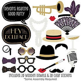 Roaring 20's - 20 Piece Twenties Photo Booth Props Kit - 2020 Graduation Party