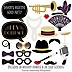 Roaring 20's - 20 Piece Twenties Photo Booth Props Kit