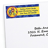 Robots - Personalized Baby Shower Return Address Labels - 30 ct