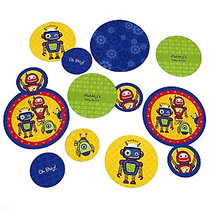 Robots - Personalized Baby Shower Table Confetti - 27 ct