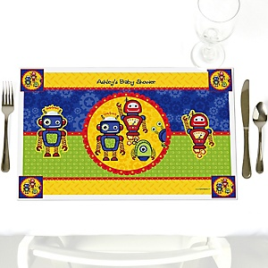Robots - Personalized Baby Shower Placemats