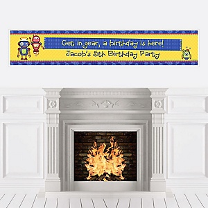 Robots - Personalized Birthday Party Banners