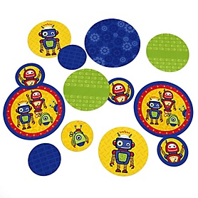 Robots - Baby Shower or Birthday Party Table Confetti - 27 ct