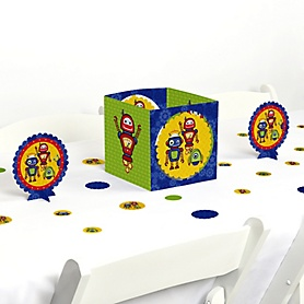 Robots - Baby Shower or Birthday Party Centerpiece and Table Decoration Kit