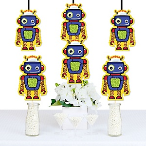 Robots - Decorations DIY Baby Shower or Birthday Party Essentials - Set of 20