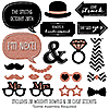 Rose Gold Bridal Shower - 20 Piece Photo Booth Props Kit