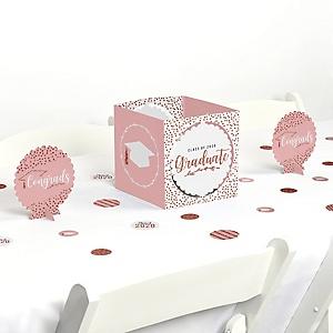 Rose Gold Grad - 2020 Graduation Party Centerpiece & Table Decoration Kit