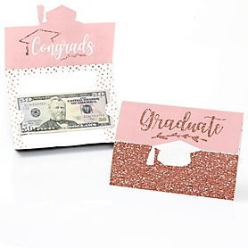 Rose Gold Grad - Graduation Money Holders - 8 ct.