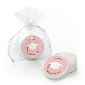 Rose Gold Grad - Personalized Graduation Lip Balm Favors - Set of 12