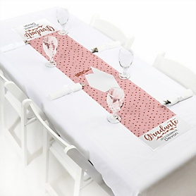 Rose Gold Grad  - Personalized Graduation Party Petite Table Runner