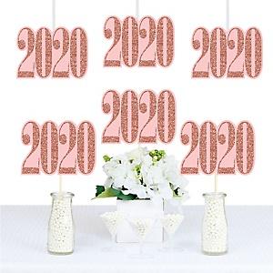 Rose Gold Grad - 2020 Decorations DIY Graduation Party Essentials - Set of 20