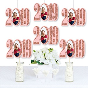 Rose Gold Grad - 2019 Photo Decorations DIY Party Essentials - Set of 20