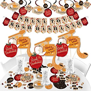 Rosh Hashanah - Jewish New Year Supplies - Banner Decoration Kit - Fundle Bundle