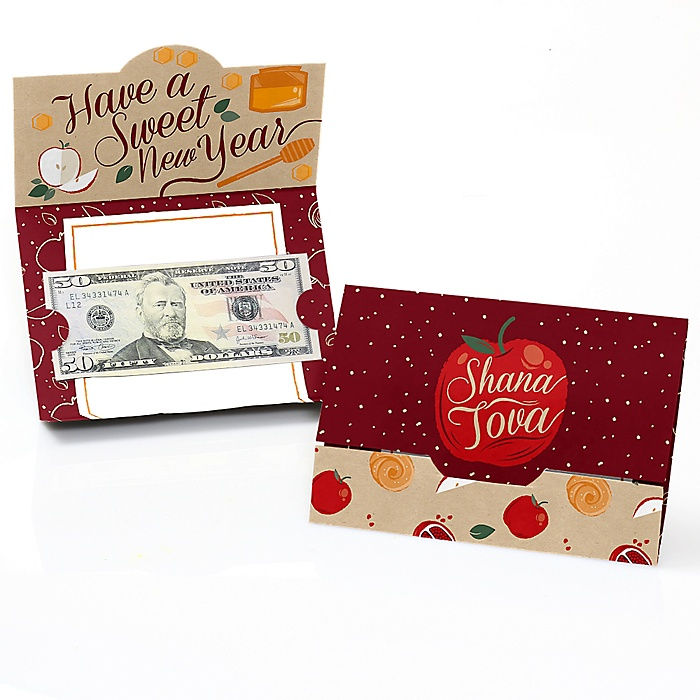 Rosh Hashanah - Set of 8 Jewish New Year Money And Gift Card Holders