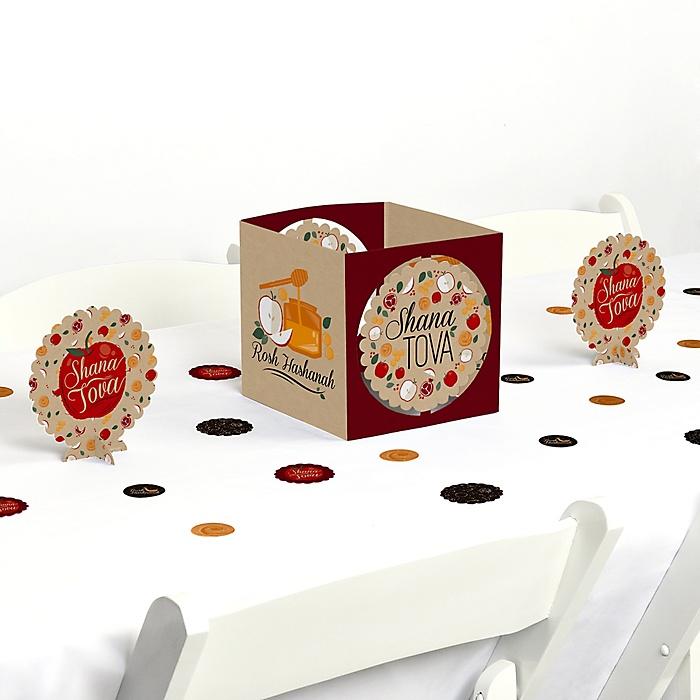 Rosh Hashanah - Jewish New Year Centerpiece and Table Decoration Kit