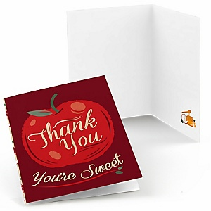 Rosh Hashanah - Jewish New Year Party Thank You Cards - 8 ct