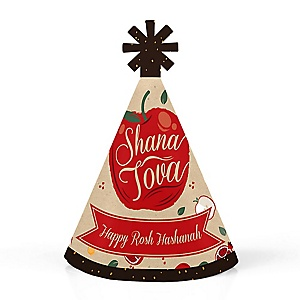 Rosh Hashanah - Personalized Mini Cone Jewish New Year Hats - Small Little Party Hats - Set of 10