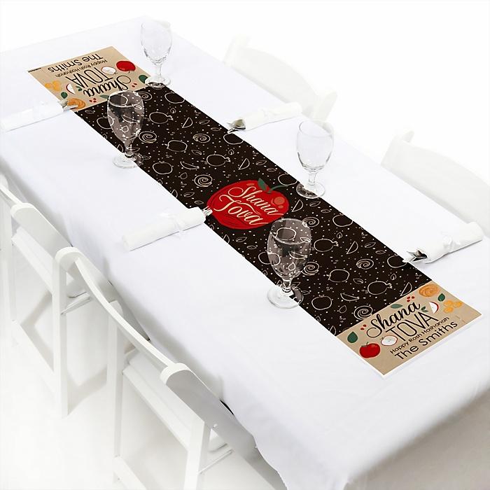 "Rosh Hashanah - Personalized Petite Jewish New Year Paper Table Runner - 12"" x 60"""